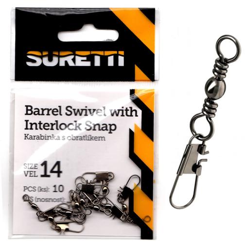 Image sur Suretti Obratlík s karabinkou Interlock, #12 12kg
